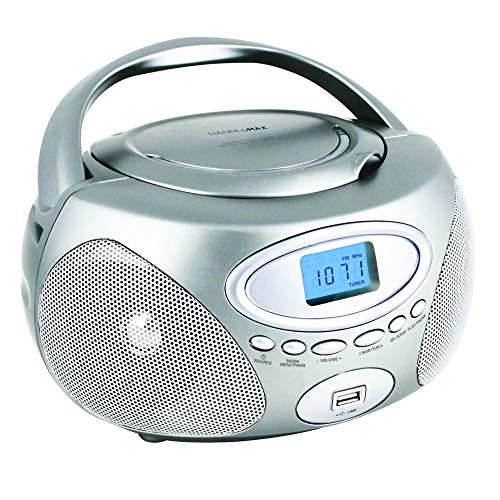 HANNLOMAX HX-311CD Portable CD/MP3 Boombox, PLL AM/FM Radio, USB Port for MP3 Playback, Aux-in, LCD Display, AC/DC Power Source