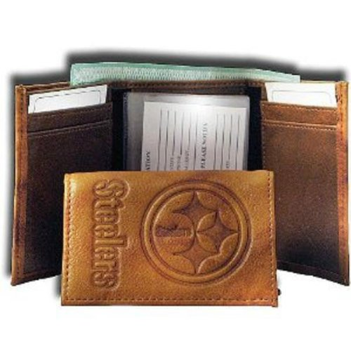 NFL Pittsburgh Steelers Leather Trifold Wallet with Man Made Interior