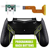 eXtremeRate Textured Black Dawn Programable Remap Kit for PS4 Controller with Upgrade Board & Redesigned Back Shell & 4…