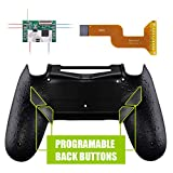 eXtremeRate Dawn Programable Remap Kit for PS4 Controller with Mod Chip & Redesigned Back Shell & 4 Back Buttons - Compatible with JDM 040/050/055 - Textured Black