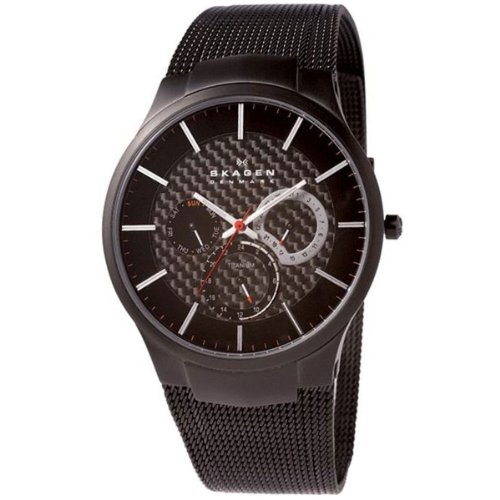 Skagen Men's SK809XLTBB Titanium Black Dial Watch
