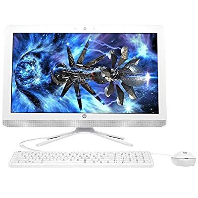 """HP 21.5"""" Full HD IPS WLED-Backlit All-in-One Desktop, Intel Quad-Core Pentium J3710 up to 2.64GHz, 8GB RAM, 1TB HDD 7200rpm, DVD Burner, WLAN, Bluetooth, HDMI, Webcam, Keyboard & Mouse, Win 10"""