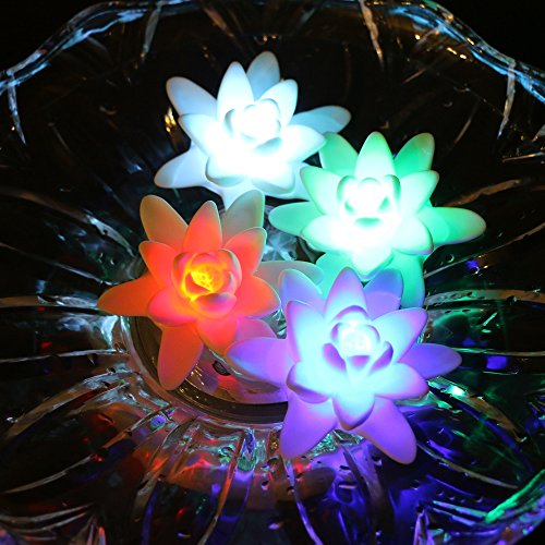 Floating Led Flower Lights