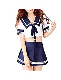 M_Eshop Plus Size Sexy Schoolgirl Lingerie Set Sailor Uniform Dress Cosplay Costumes