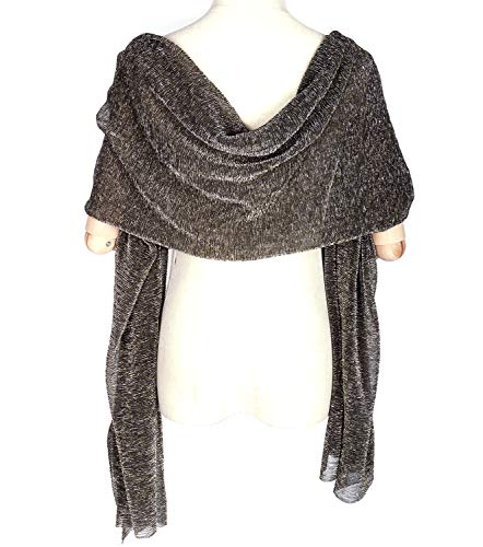 Evening Silk Wraps Large Scarfs for Women Party Bridal Long Fashion Shawl Wrap with Fringe ()