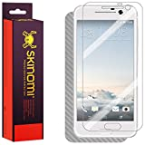 Skinomi TechSkin - HTC 10 Screen Protector (One 10,M10) + Silver Carbon Fiber Full Body Skin / Front & Back Wrap Clear Film / Ultra HD and Anti-Bubble Shield