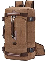 Canvas Backpack, Aidonger Vintage Canvas School Backpack Hiking Travel Rucksack