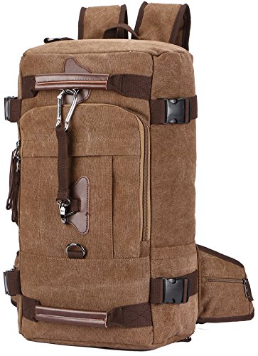 Travel Backpack, Aidonger Vintage Canvas Hiking Daypack Shoulder Bag 15'' Laptop Backpack (Coffee-58)