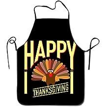 Pattern Apron Burlap Polyester Women Happy Thanksgiving Everyone Turkey Cute FRICSTAR