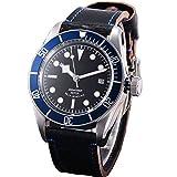 41mm Sterile Black Dial Automatic Slef Wind Sapphire Glass Men's Wristwatches