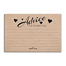 Home Advantage - (50 Pack) 4x6 Advice and Wishes for the Bride to Be