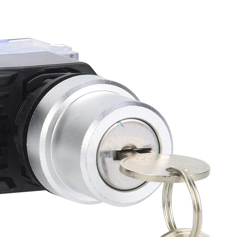 31 3 posiciones 2 Interruptor de llave normalmente abierto 22 mm Interruptor normalmente abierto 10 piezas BEM38-20Y