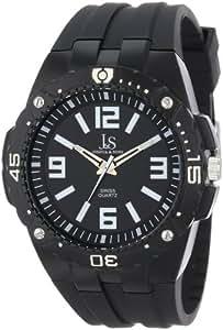 Joshua & Sons Men's JS-36-BK Bold Swiss Quartz Black Silicone Strap Watch