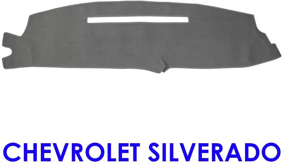 Silverado 08-13 YRCP Dashboard Covers Fit Chevy Chevrolet Silverado LT HD WT 4x4 2008-2013 Anti-Slip Dash Cover Mat Pad MR074 Block UV Silverado 08-13, Grey
