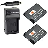 DSTE 2x AHDBT-001 Battery + DC121 Travel and Car Charger Adapter for GoPro Hero1 Hero2 Camera