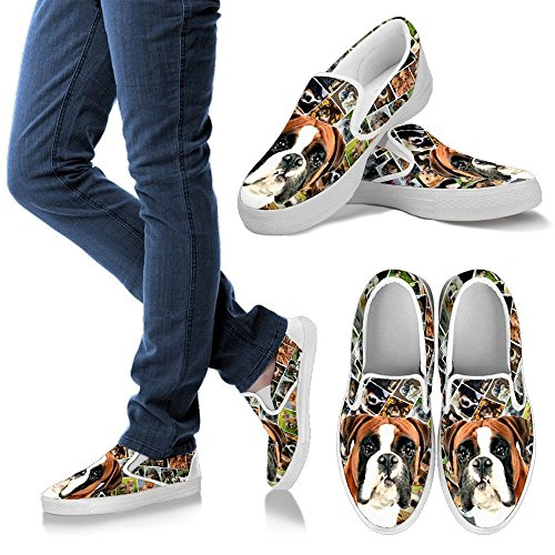 Shoes Slip Lovely Breed Dog Choose Ons Ons Amazing Women's Pet Boxer Print Your Slip n8q4UYxwS