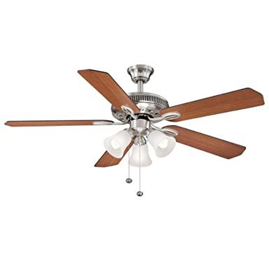 Hampton Bay Glendale 52 In. Brushed Nickel Ceiling Fan