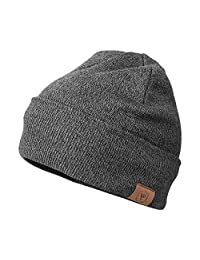 OZERO Winter Knit Beanie Hat Thermal Polar Fleece Lining Warm Skull Cap for Men and Women
