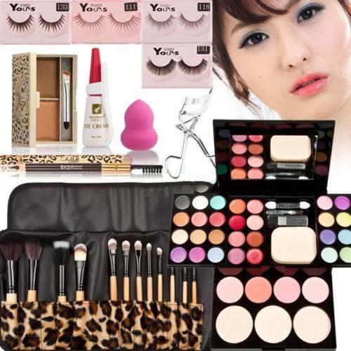 Price comparison product image PAPE, Makeup Kit Palette Eyeshadow Lip Gloss Foundation Blusher Powder Brush Gift Set