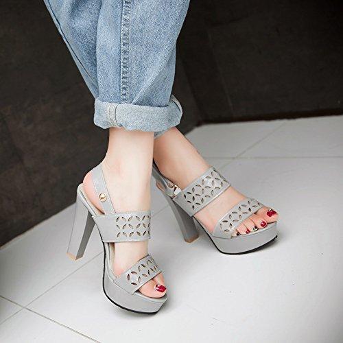 Grey Moda Heels Donna Sandali Zanpa Slingback fOZwXFYnWq