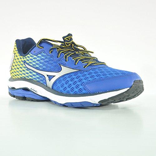 Mizuno Wave Rider 18 - Zapatos para hombre azzurrogiallo