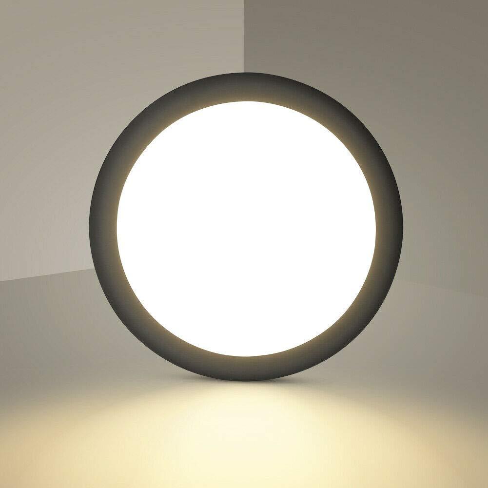 Blanc Chaud, 18W 6000K Blanc Froid 18W 1440lm /Ø 34cm Cuisine Couloir Plafonniers LED Entr/ée plafonnier Rond LED ultra-mince Lampe de Plafond pour Salle de bain Chambre