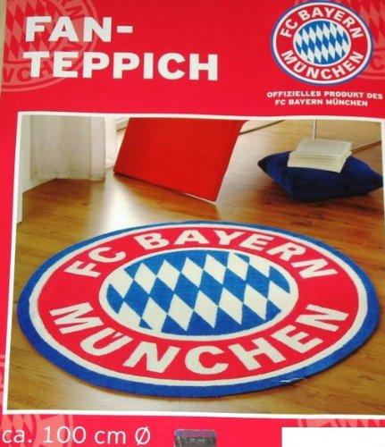 Teppiche München fc bayern münchen fan teppich rund 100 cm mit logo amazon de sport