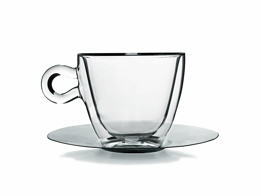 Thermic 30 cl Multi-Purpose Cup with Saucer Gift Box, Pack of 2 Luigi Bormioli 10089/01
