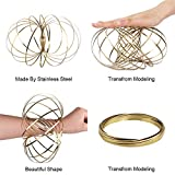 HAS Magic Flow Ring Spiral Spring Toy Multi Sensory Arm Spinner Toy Science Education and Interaction Flow Ring for Kids and Adults Magic Fluid Bracelet Spring Toys