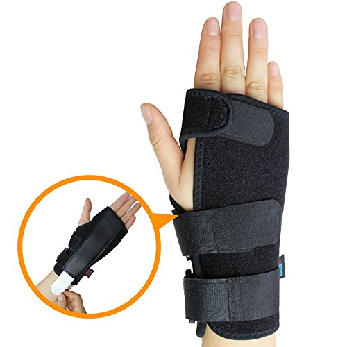 Steel Sport Plate Wrist Support Strap Wraps Fracture Fixed Injury Sprain Rehabilitation Hand Carpal Safety Sleep Brace (M
