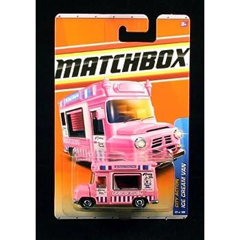 Matchbox 2011 City Action Ice Cream Truck Van Pink Mr. Coneyu0027s Tasty Treats  #63