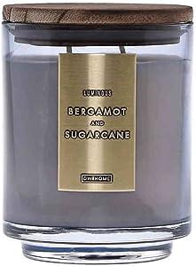 DW Home Wood-Accent 29 oz. 3-Wick Jar Candle (Bergamot & Sugarcane)