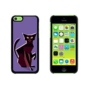 Geometric Cat Dark Brown Snap On Hard Protective For SamSung Galaxy S4 Phone Case Cover - Black