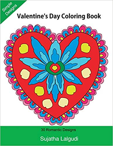 Amazon.com: Valentine\'s Day Coloring Book: 30 Romantic Designs ...