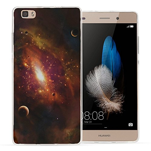 Weltraum 10045, Universum, Das Kristallklare Ultradünn Gel Crystal Silikon Handyhülle Schutzhülle Handyschale mit Farbig Design für HUAWEI P8 LITE
