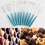10PCS Chocolate Dipping Forks Party Fondue Fountain Cake Decorating DIY Tool Set