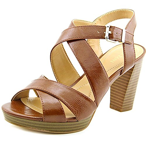 Alfani Womens Palariaa Open Toe Casual Strappy Sandals, Cognac, Size 9.5 from Alfani