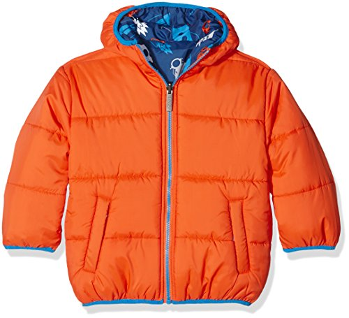 Hatley Little Boys' Reversible Winter Puffer, Retro Rockets, 6