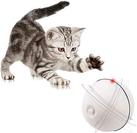 Volwco Pelota de juguete interactiva para gatos, Bola giratoria ...