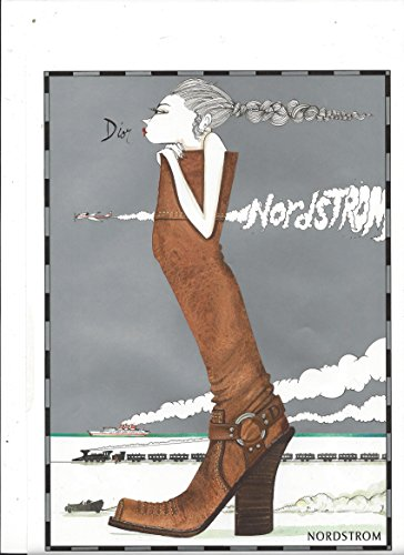 illustrated-print-ad-for-nordstrom-silver-dior-brown-boots-designer-boutique