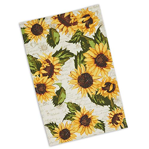 Design Imports Rustic Sunflowers Printed Dish Towel Kitchen 18