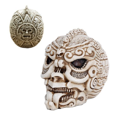 Aztec Mexica Skull Fierce Figurine Made of Polyresin by Pacific Trading (Image #1)
