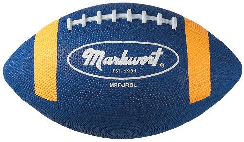 Markwort Junior Size Rubber Football, Blue/Gold
