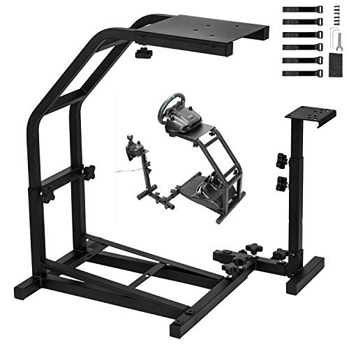 Gloria Racing Wheel Stand with V2 Support Game Support Stand Up Simulation Driving Bracket for Logitech G29, G27 and G25 Racing Simulator Steering Wheel Stand without Wheel and ()