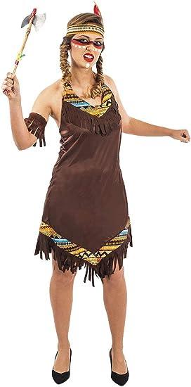 atelier bro s.l.u. Disfraz India Apache Mujer M-L: Amazon.es ...