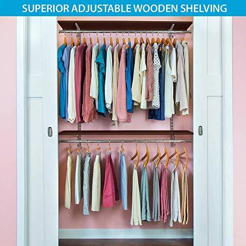 Organized Living freedomRail Premium Adjustable Closet Organizer Kit, 48'- 52',White