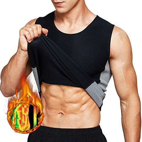Tooklanet Overhemd Voor Heren Zweetvest Neopreen Sauna Taille Trainer Bodyshaper Afslanken Workout TankTops Voor…