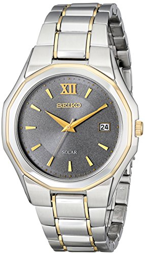 lassic Solar-Powered Two-Tone Stainless Steel Watch with Link Bracelet (Seiko Link Bracelet)