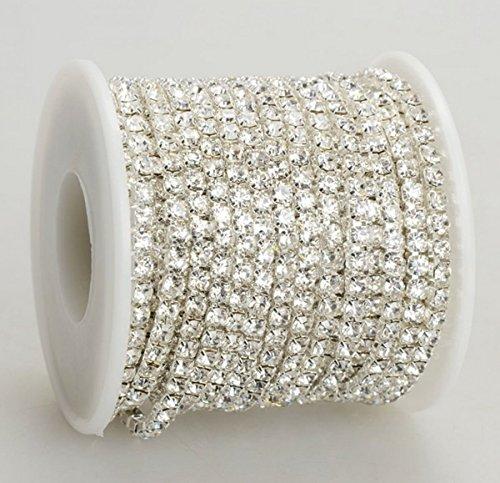 welliestr-109-yard-100-metters-crystal-rhinestone-close-chain-clear-trim-sewing-craft-2mm-silver-col