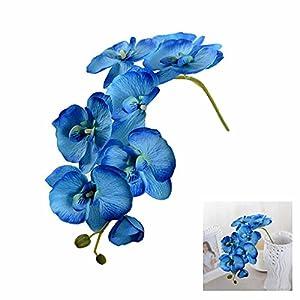 GOOTRADES Artificial Butterfly Orchid Silk Flower Home Garden Phalaenopsis Bouquet Decor (10, Blue) 51